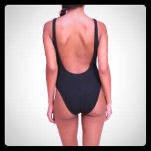 BNWT Black hollister high cut one piece swimsuit